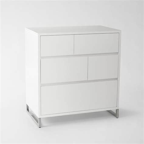 5 Drawer Dresser White by Hudson 5 Drawer Dresser White West Elm