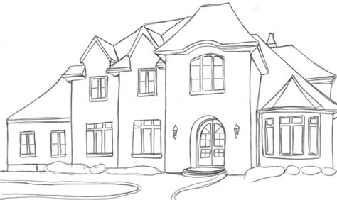 how to draw a house 2 awesome and easy way for everyone house drawing dream house drawing easy house drawings