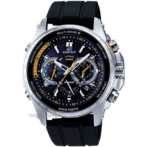 mens casio edifice wave ceptor alarm chronograph  eqw  aer  shopcom