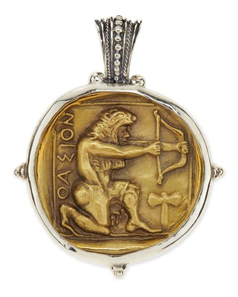 konstantino s sterling and bronze hercules pendant in