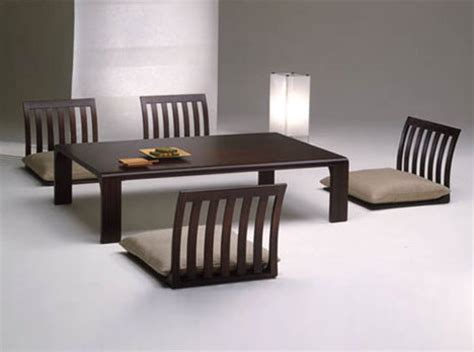 Japanese Style Floor Dining Table by Floor Furnitures Japan Style Dining Room Tables Chairs