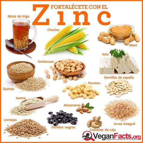 alimento vegano de zinc en la dieta vegana y vegetariana