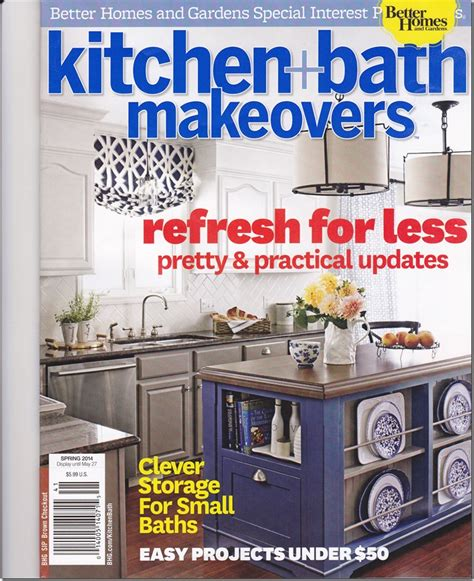 kitchen magazines better homes and gardens kitchen and bath makeovers