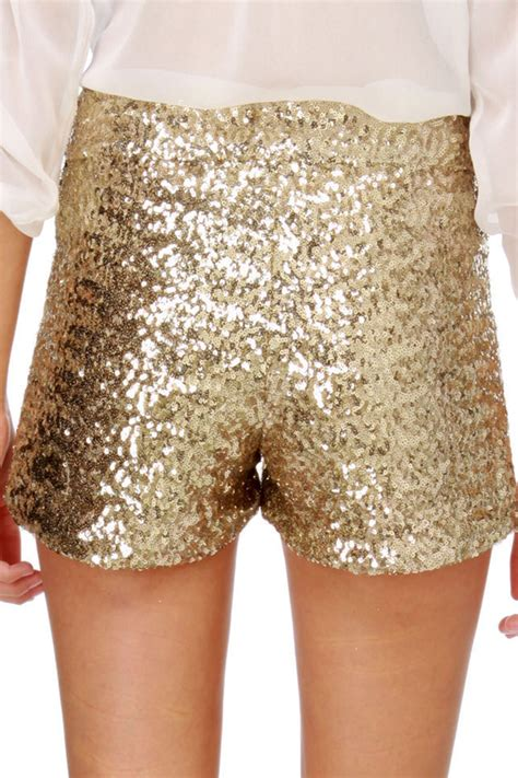 beaded shorts sequin shorts gold shorts tap shorts 55 00