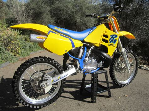 Suzuki 90 Dirt Bike 90 Suzuki Rm250 Dirt Bike Polished Motor Restored