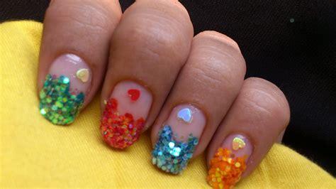colorful nail big glitter nail designs colorful nails tutorial
