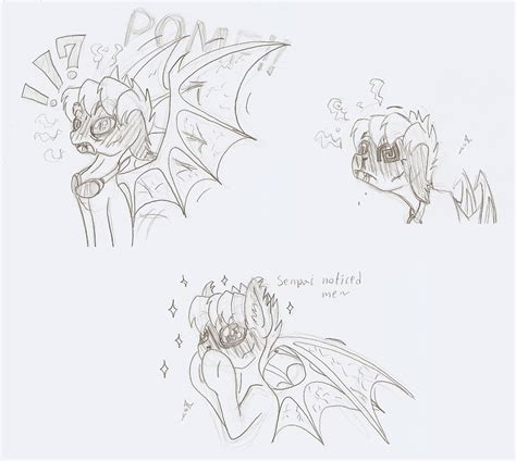 doodle bat the blushing bat doodles by ravenpuff on deviantart