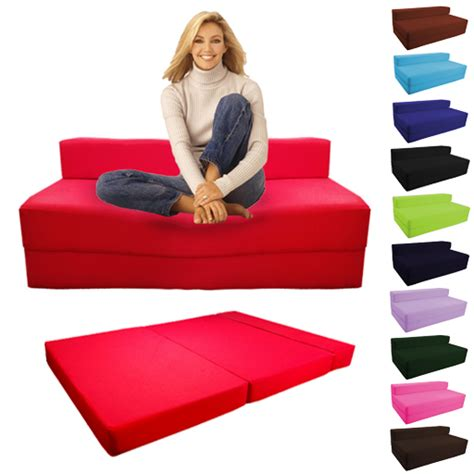 foldable sofa bed fold out foam double guest z bed chair folding mattress sofa bed futon sofabed ebay