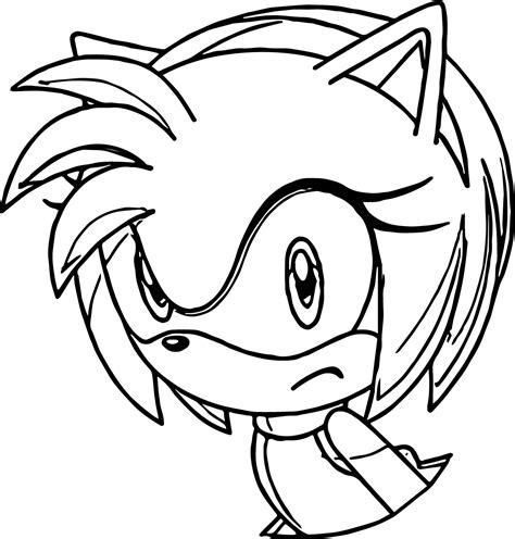 amy rose coloring pages sketch coloring page