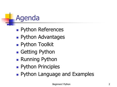 reference book advantages ppt beginners python powerpoint presentation id 1961610
