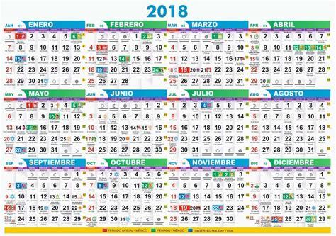 Calendario 2018 Con Festivos Dise 241 O Calendario 2018 Con Santoral Y De Bolsillo