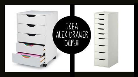 dupe ikea alex drawers