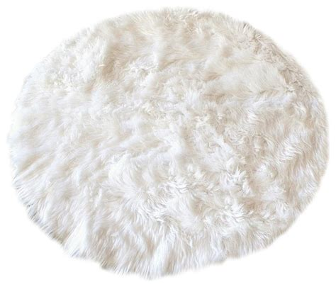white fur rugs faux fur sheepskin rug white 30 quot novelty rugs by fur accents