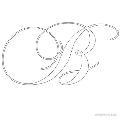 printable a z stencils fancy letters to print and cut out how to draw bubble
