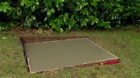 lay  concrete pad mitre  easy  youtube