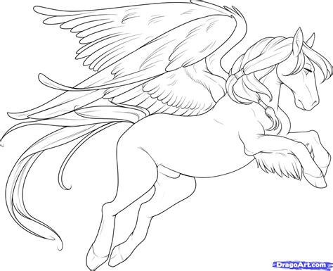 coloring pages of flying horse how to draw a flying horse flying horse step by step