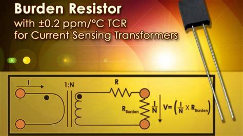 burden resistor current transformer cots burden resistor for current sensing transformers
