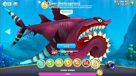 new shark buzz helicoprion hungry shark world android