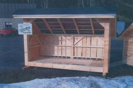 custom built wood shed from casco bay home improvements