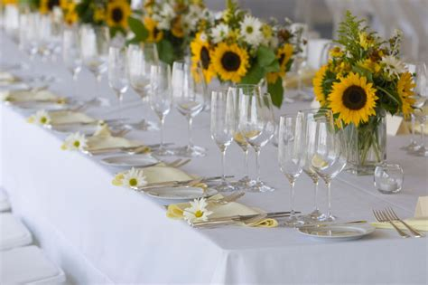 sunflower wedding table decoration ideas so summery and sweet a sunflower wedding theme arabia