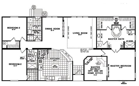 ranch modular home floor plans fuller modular homes classic ranch modular 973 modular