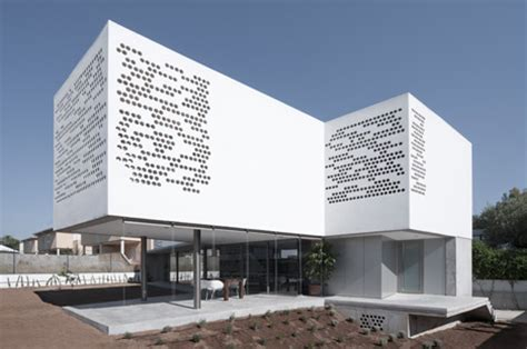 gallery   post house  perforated facade