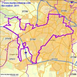 Durham Nc Zip Code Map by Durham Nc Zip Code Map