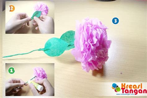 cara membuat kerajinan tangan simple tutorial cara membuat kerajinan tangan dari kertas krep