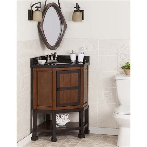 Corner Bathroom Vanity Tops Southern Enterprises Emery Corner Single Granite Top Bathroom Vanity Bt7873