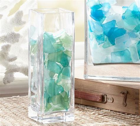 Sea Glass Home Decor by Fill Vases Or Clear Lamps With Seaglass For A Pop Of Color