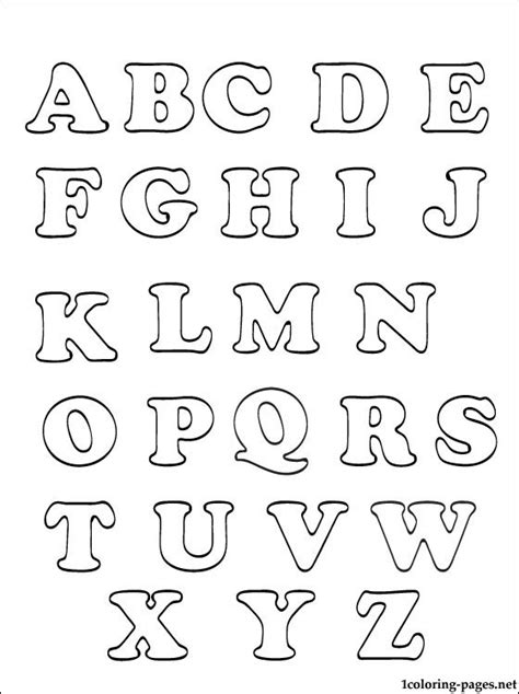 coloring pages by numbers or letters alphabet coloring page printable alphabet coloring pages
