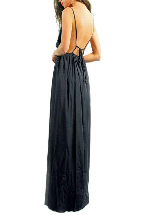 Backless Maxi Dress lioness goddess backless maxi dress fox maiden