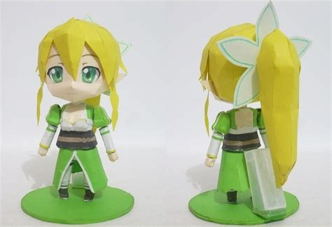 Nendoroid Papercraft - papercraft chibi lyfa front and rear view by bryanz09 on