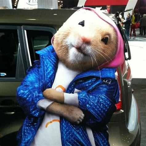 the kia hamsters the kia hamster spokesrodent at the 2012 new york auto