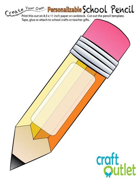 back to school apple with pencil printable craft outlet