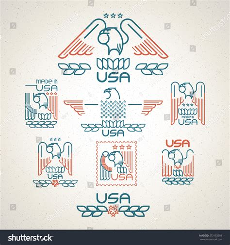 made in the usa symbol made in the usa symbol with american flag and eagle set of