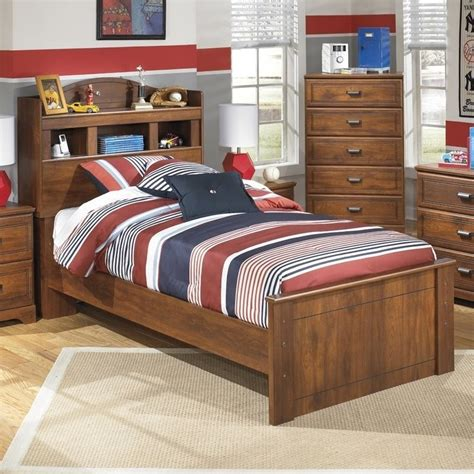 barchan full bookcase bed ashley barchan wood twin bookcase bed in brown b228 52