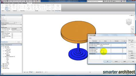tutorial video revit revit tutorials revit families parametric table youtube