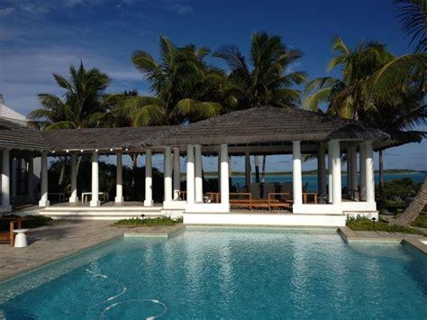 thatched gazebo in the bahamas tropical pool orange