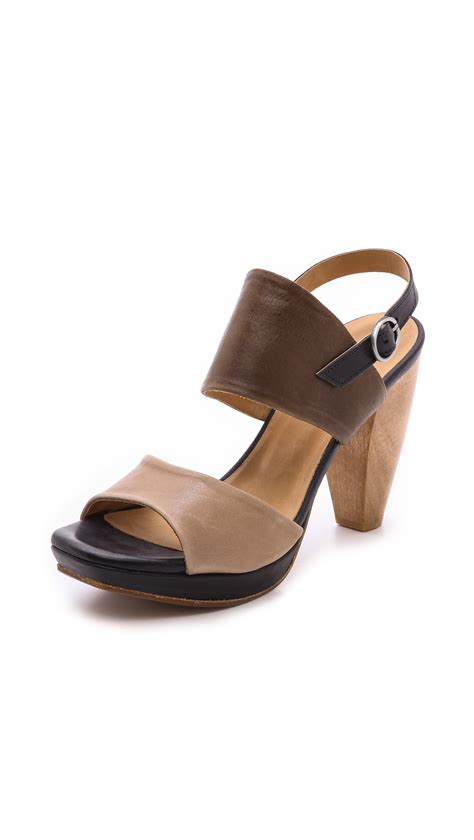 coclico sandals coclico frey slingback sandals doejungle in brown lyst