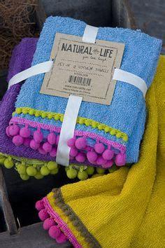 Pompom Trim Towel set of 6 personalized bath towels towel bathroom