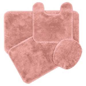 Pink Bathroom Rugs Elongated Toilet Lid And Contour Rug