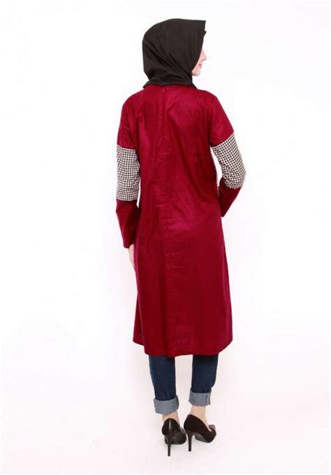 Baju Tartan Tunik 2 Es hijb fashion inherstore