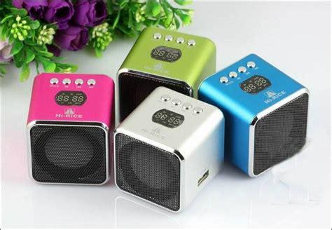 Mini Speaker Multimedia Model Kotak hi rice sd 100 mini multimedia speaker with fm use tf card