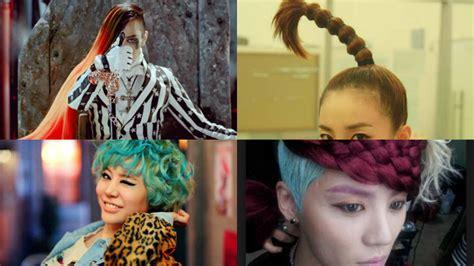 weirdest hairstyles 11 of the weirdest k pop hairstyles sbs popasia