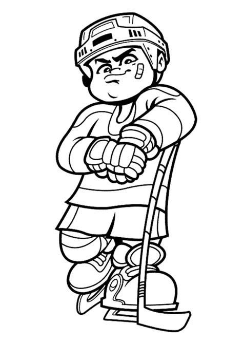 printable coloring pages hockey hockey player cliparts co