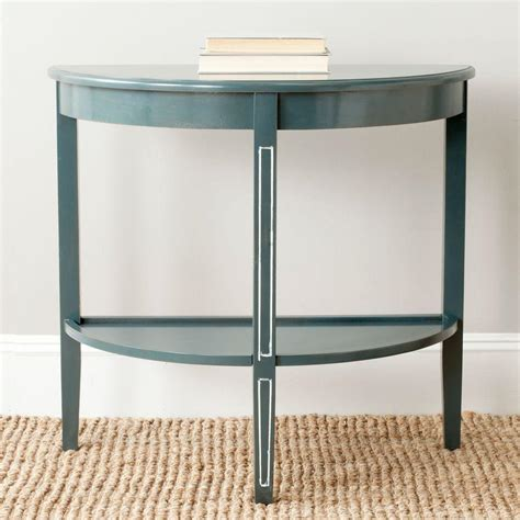 teal sofa table safavieh amos steel teal console table amh6621b the home