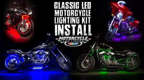 ledglow classic motorcycle lighting kit install