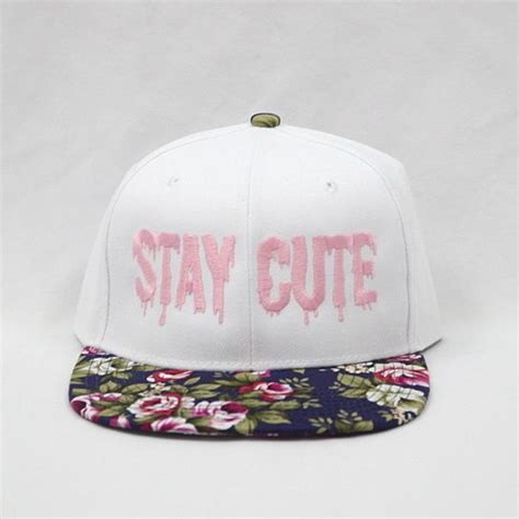 Topi Snapback Sneaper Er1 Shop white floral snapback my kinda style happenings boho and you smile