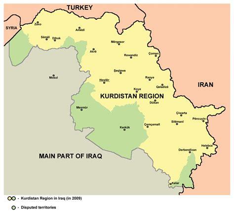 map of iraqi kurdistan file kurdistan 2009 png wikimedia commons
